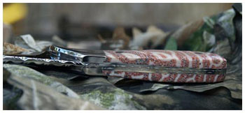 Handmade custom knife made for a woman, view 2